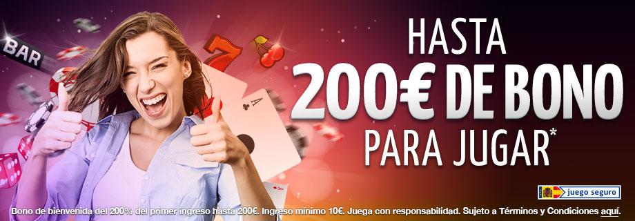 Bono de Bienvenida ¡200% hasta 200€!