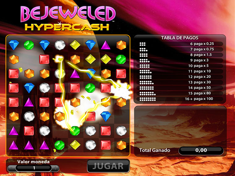 ¡Bejeweled Hypercash en acción!