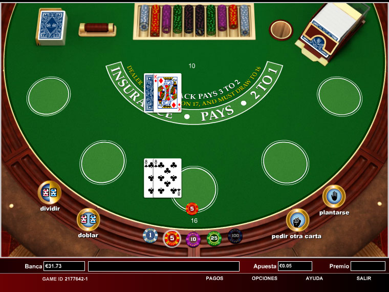 ¡Blackjack Clásico en acción!