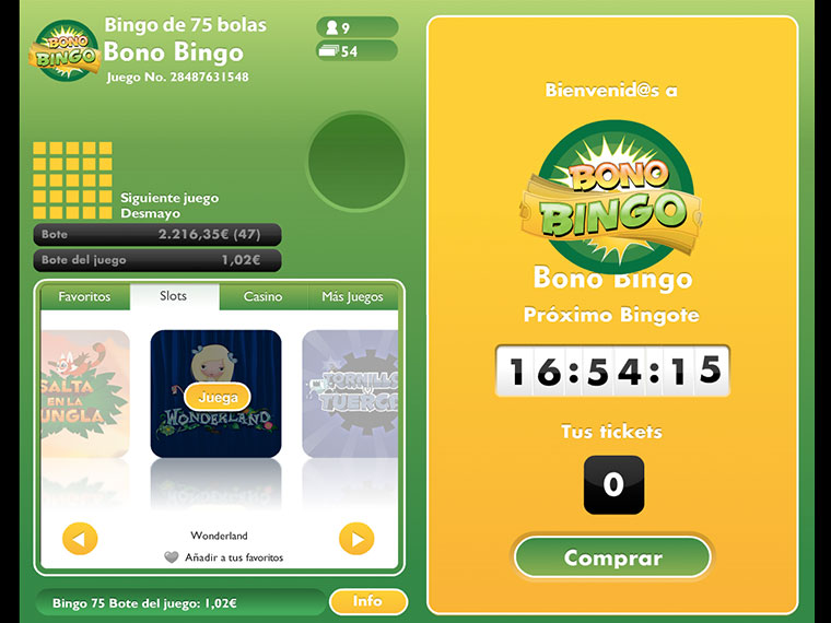 ¡Bono Bingo en acción!