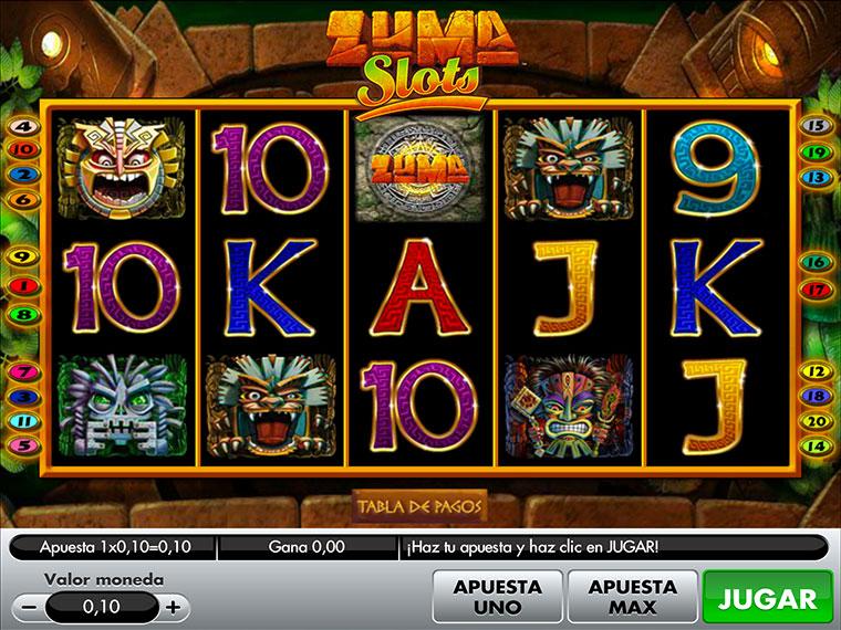 ¡Zuma Slots en acción!
